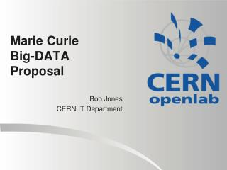 Marie  Curie Big-DATA  Proposal