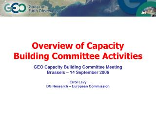 Overview of Capacity Building Committee Activities