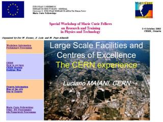 Large Scale Facilities and Centres of Excellence The CERN experience Luciano MAIANI. CERN