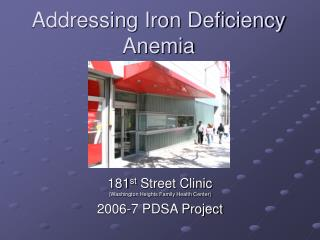 Addressing Iron Deficiency Anemia