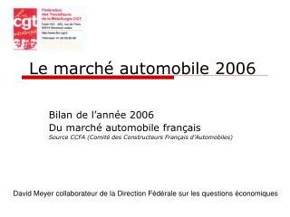 Le marché automobile 2006