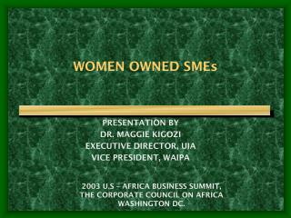 WOMEN OWNED SMEs