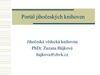 Portál jihočeských knihoven