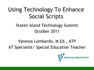 Using Technology To Enhance Social Scripts