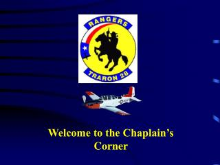 Welcome to the Chaplain's Corner