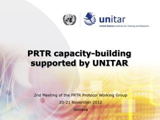 PRTR  capacity-building supported by  UNITAR