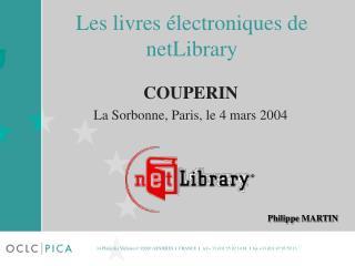 Les livres électroniques de  netLibrary