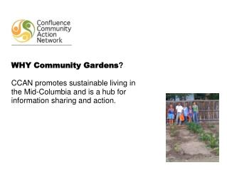 WHY Community Gardens ?