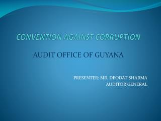 CONVENTION AGAINST CORRUPTION