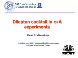 Dilepton cocktail in  p +A experiments