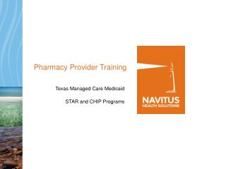 Pharmacy Provider Training