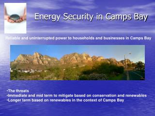 Energy Security in Camps Bay