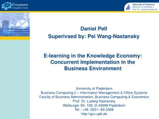 E-learning in the Knowledge Economy: Concurrent Implementation in the  Business Environment