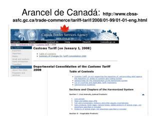 Web+ +CANADA+arancel