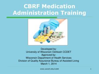 CBRF Medication Administration Training