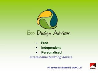 Free  Independent  Personalised     sustainable building advice
