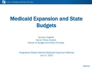 Medicaid Expansion and State Budgets