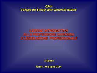 CBUI Collegio dei Biologi delle Università Italiane