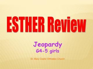 Jeopardy G4-5 girls
