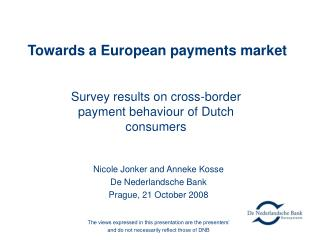 Towards a European payments market