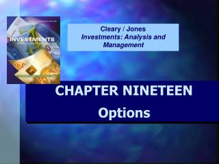 CHAPTER NINETEEN  Options