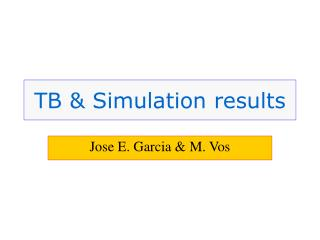 TB & Simulation results