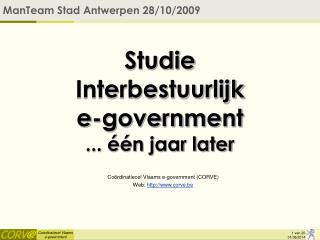 Studie  Interbestuurlijk  e-government ... één jaar later