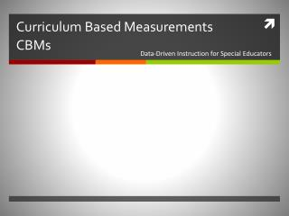 Curriculum Based Measurements CBMs