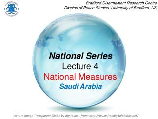 National Series Lecture 4  National Measures Saudi Arabia