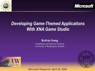 Developing Game-Themed Applications With XNA Game Studio