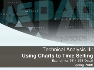 Technical Analysis III: Using Charts to Time Selling