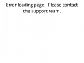 Error loading page.  Please contact the support team.