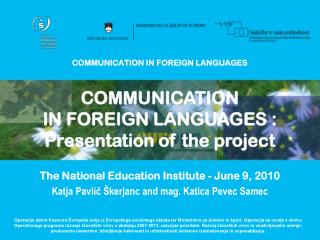 COMMUNICATION IN FOREIGN LANGUAGES