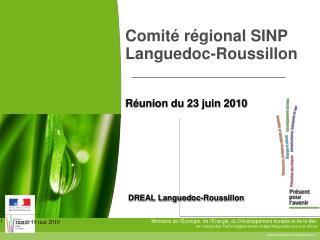 Comité régional SINP Languedoc-Roussillon