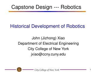 Historical Development of Robotics