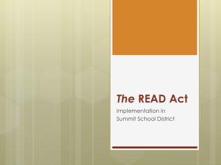 The  READ Act
