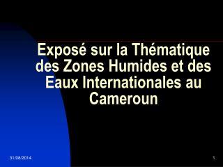 Exposé sur la Thématique des Zones Humides et des Eaux Internationales au Cameroun