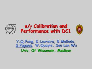 e/ g  Calibration and Performance with DC1