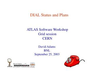 DIAL Status and Plans