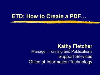 ETD: How to Create a PDF…