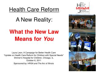 Health Care Reform A New Reality: