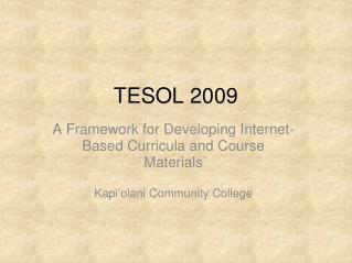 TESOL 2009
