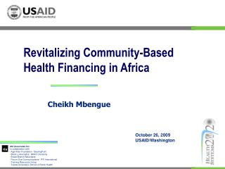 Revitalizing Community-Based Health Financing in Africa