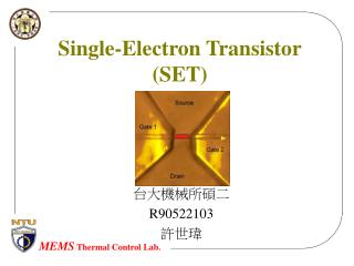 Single-Electron Transistor (SET)