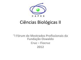 Ciências Biológicas II
