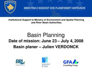 Basin Planning