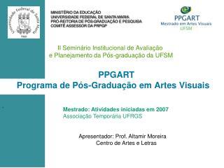 II Seminário Institucional de Avaliação  e Planejamento da Pós-graduação da UFSM