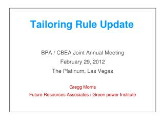 Tailoring Rule Update