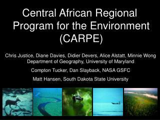 Central African Regional  Program for the Environment (CARPE)