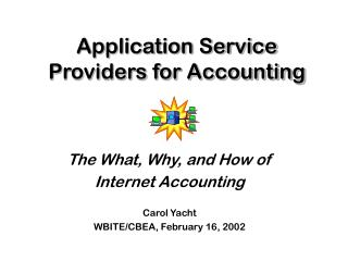 Application Service Providers for Accounting